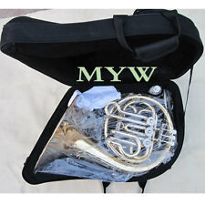 children mini french horn 3 valve single cupronickel tuning pipe case mouthpiece