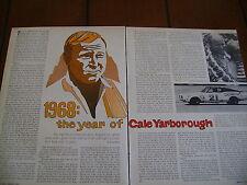 1968 CALE YARBOROUGH THE YEAR OF...MERCURY NASACAR  ***ORIGINAL ARTICLE***
