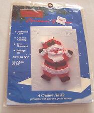 Titan Creative Felt Christmas Greeting Card Kit Cut and Glue NIP