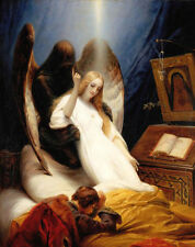 Art Oil painting Emile Jean-Horace Vernet - Angel of Death of angel canvas 36""