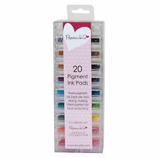 Docrafts 20 piece pigment ink pads Rubber & clear stamps Card making Pigmented