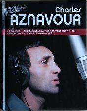 CHARLES AZNAVOUR LÉGENDES DE LA CHANSON FRANÇAISE   LIVRET + CD