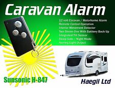 Caravan Alarm Security System, 12V Remote Controlled With Tilt Protection H847