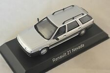 NOREV 512111 - Renault 21 Nevada 1986 Argent Grey 1/43