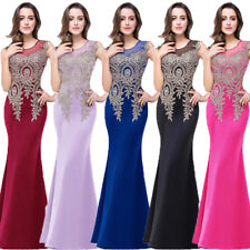 Women Formal Dress Wedding Bridesmaid Long Evening Party Ball Prom Gown Cocktail