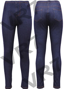 WOMENS HIGH WAISTED STRETCHY SKINNY JEANS LADIES DENIM JEGGINGS PANTS SIZE 8-26