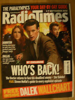 RADIO TIMES DOCTOR WHO 1st SEPTEMBER 2012 FREE DALEK WALLCHART
