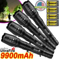 Tactical 350000Lumens 5 Modes 18650 T6 LED Flashlight Aluminum Zoom Torch Pack