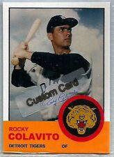 ROCKY COLAVITO DETROIT TIGERS 1963 STYLE CUSTOM MADE BASEBALL CARD BLANK BACK