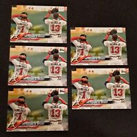 Lot of (5) 2018 Topps Update #US43 Albies & Acuna Jr. Atlanta Braves rookie MINT