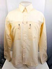 SIMMS - Embroidered Bass SolarBan Yellow Mens Lg. Vented Fishing Shirt