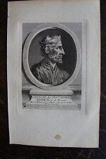 LOUIS IV DIT D'OUTREMER ROI DE FRANCE . PORTRAIT, GRAVURE ORIGINALE , 1760