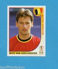 KOREA/JAPAN 2002-PANINI-Figurina n.557- VAN KERCKHOVEN -BELGIO-NEW BLUE BACK