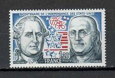 s25170) FRANCE 1976 MNH** U.S. bi-centenary 1v