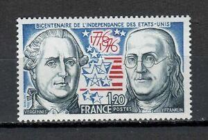 S25170) France 1976 MNH U.S.Bi-Centenary 1v