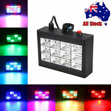Disco Party DJ Strobe Laser Light 12x RGB LED Sound Activated Stage Effect FF