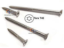 Vis Ø8mm inox A2 Torx T40 Terrasse Bois ou Autre Utilisation GAMME PRO