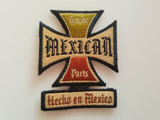 PATCH Genuine Mexican Parts Hoche en Mexico Sized 4x3 Inch EMBROIDERED HOT ROD