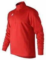 New Balance Men's Lightweight Solid Half Zip Red