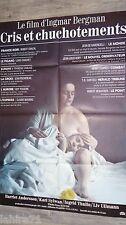 ingmar bergman CRIS ET CHUCHOTEMENTS ! affiche cinema  1973