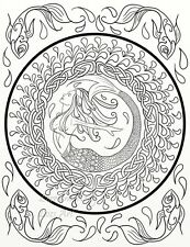 5 Celtic Knots Adult Coloring Pages PDF Download 4 Printing Mermaid Swirls 5-01
