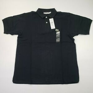 NEW Lacoste Classic Fit 5/L Large Mens Polo Shirt Short Sleeve Black