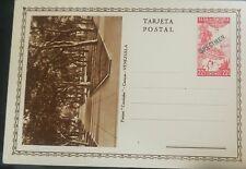 O) 1937 VENEZUELA - UNITED STATES OF VENEZUELA, CACAO-COCOA, SPECIMEN POSTAL CAR