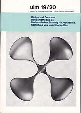 ULM 19/20 HFG Design School Magazine Allemand design industriel Aicher Bill Braun