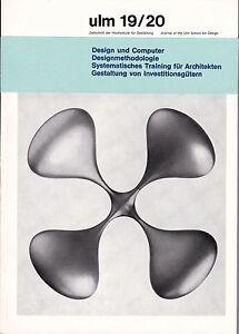 ULM 19/20 HfG Design School Magazine German Industrial Design Aicher Bill BRAUN