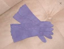 1940's Vintage 100% Cotton Purple Gloves by Crescendoe