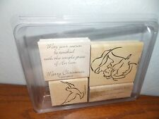 Stampin Up Madonna and Child Christmas Bird Dove Stamp Set of 4 L0617