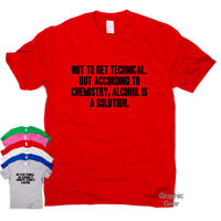 Alcohol Is A Solution funny T-shirts gift mens womens sarcastic top slogan tee