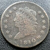 1810 Large Cent Classic Head One Cent 1c Rare Circulated #17701