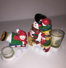 New Yankee Candle SNOW FRIENDS Votive Holder Set w/ Candles