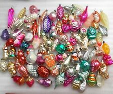 BIg set 87 Vintage USSR Russian Glass Christmas Ornaments Xmas Tree Decorations