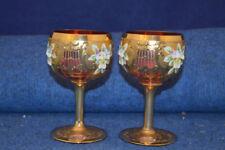 Hand Blown Cranberry Art Glass
