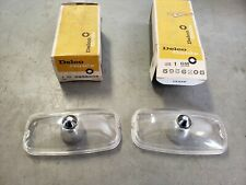 Pair NOS 1966 1967 GTO Parking Light Lens 1965 Grand Prix Turn Signal Pontiac