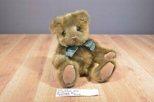 Princess Soft Brown Teddy Bear With Green Polk-a-Dot Bow 1997 plush(310-006-1)