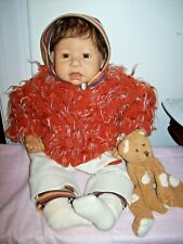 ZAPF / NEL DE MAN CLOTH & VINYL 19 INCH WEIGHTED DOLL WITH PLUSH BEAR