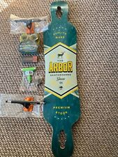 "Arbor Genesis Longboard Upgraded With Shark Wheels Z Flex RKP Trucks 44"" X 9.5"""