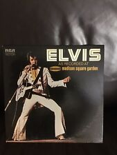 vinyl records- Elvis Presley- As Recorded At Madison Square Garden- 1972 - VG