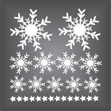 25 x Fensteraufkleber Schneeflocken + Sterne Eiskristalle Weihnachten Sticker
