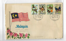 Malaysia 1970 Butterflies postage stamps FDC