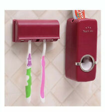 Touch Me Hands Free Automatic Toothpaste Dispenser & Toothbrush Holder Hot Pink