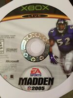 Madden NFL 2005 - Xbox - Disc Only - Resurfaced - Fast Free Shipping!