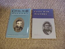 Lot of 2 Civil War History A Journal of the Middle Period Dec 1986 & June 1997