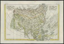 More details for 1780 - rare original antique map of l'asie asia central asia by bonne (bn49)