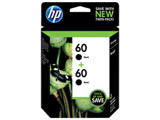 HP 60 + 60 Black 2 Pack Ink Print Cartridge Original (CZ071FN) - NEW ™