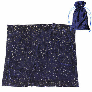 Divination Wicca Tablecloth Golden Star Pattern Altar Tarot Table Cloth Bag