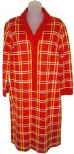 Lovely Vintage Red, White & Yellow Plaid Knit Dress! Sz Large, European, Sexy